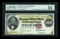 Large Size:Gold Certificates, Fr. 1208 $100 1882 Gold Certificate PMG About Uncirculated 55....