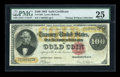 Large Size:Gold Certificates, Fr. 1206 $100 1882 Gold Certificate PMG Very Fine 25....