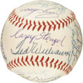 Autographs:Baseballs, 1957 American League All-Star Team Signed Baseball, PSA NM-MT+ 8.5.One of the more controversial Midsummer Classics, this ...