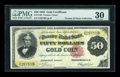 Large Size:Gold Certificates, Fr. 1195 $50 1882 Gold Certificate PMG Very Fine 30....