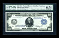 Large Size:Federal Reserve Notes, Fr. 951a $10 1914 Federal Reserve Note PMG Gem Uncirculated 65 EPQ....