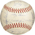 Autographs:Baseballs, 1963 New York Yankees Team Signed Baseball. A fourth consecutiveAmerican League flag for the boys from the Bronx, who powe...