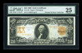 Large Size:Gold Certificates, Fr. 1184 $20 1906 Gold Certificate PMG Very Fine 25....