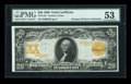 Large Size:Gold Certificates, Fr. 1181 $20 1906 Gold Certificate PMG About Uncirculated 53....