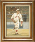 Baseball Collectibles:Others, 1985 Babe Ruth Perez-Steele Original Artwork by Dick Perez.Probably the most significant work by this gifted sports artist...
