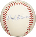 Autographs:Baseballs, 1950's Lloyd Waner Signed Baseball. The look of a $2,500+ single without the price tag to match. This ONL (Giles) ball is ...