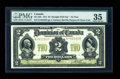 Canadian Currency: , DC-22b $2 1914. ...
