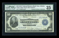 Large Size:Federal Reserve Bank Notes, Fr. 812 $10 1918 Federal Reserve Bank Note PMG Very Fine 25....