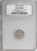 Early Half Dimes, 1803 H10C Large 8--Improperly Cleaned--NCS. XF Details....