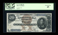 Large Size:Silver Certificates, Fr. 311 $20 1880 Silver Certificate PCGS Extremely Fine 45....