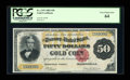 Large Size:Gold Certificates, Fr. 1193 $50 1882 Gold Certificate PCGS Very Choice New 64....