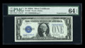 Small Size:Silver Certificates, Fr. 1601 $1 1928A Silver Certificate. Z-B Block. PMG Choice Uncirculated 64 EPQ.. ...