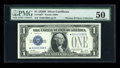 Small Size:Silver Certificates, Fr. 1602* $1 1928B Silver Certificate. PMG About Uncirculated 50.. ...