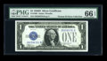 Small Size:Silver Certificates, Fr. 1604 $1 1928D Silver Certificate. PMG Gem Uncirculated 66 EPQ.. ...