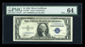 Small Size:Silver Certificates, Fr. 1607* $1 1935 Mule Silver Certificate. PMG Choice Uncirculated 64.. ...
