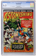 Golden Age (1938-1955):Science Fiction, Astonishing #4 (Atlas, 1951) CGC FN+ 6.5 Cream to off-whitepages....