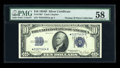 Small Size:Silver Certificates, Fr. 1705* $10 1934D Silver Certificate. PMG Choice About Unc 58.. ...