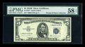Small Size:Silver Certificates, Fr. 1657* $5 1953B Silver Certificate. PMG Choice About Unc 58 EPQ.. ...