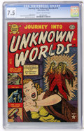 Golden Age (1938-1955):Horror, Journey Into Unknown Worlds #14 (Atlas, 1952) CGC VF- 7.5 Cream tooff-white pages....