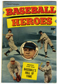 Golden Age (1938-1955):Non-Fiction, Baseball Heroes #nn (Fawcett, 1952) Condition: FN/VF....