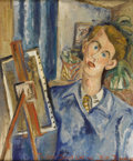 Texas:Early Texas Art - Modernists, BILL BOMAR (1919-1990). Self Portrait, 1947. Oil on canvas.24in. x 20in.. Signed and dated lower right. A fantastic m...
