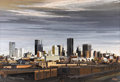 Texas:Early Texas Art - Regionalists, ED BEARDEN (1919-1980). Skyline Late Afternoon, 1969.Gouache. 23in. x 34in.. Signed and dated lower right. Titledverso...