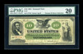 Large Size:Demand Notes, Fr. 7 $10 1861 Demand Note PMG Very Fine 20....