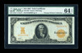 Large Size:Gold Certificates, Fr. 1168 $10 1907 Gold Certificate PMG Choice Uncirculated 64 EPQ....