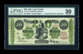 Large Size:Legal Tender Notes, Fr. 124 $20 1862 Legal Tender PMG Very Fine 30....