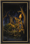 Pulp, Pulp-like, Digests, and Paperback Art, LARRY ELMORE (American b.1948). Tales of Robin Hood, 1988.Acrylic on board. 29 x 18 in.. Signed lower left. ... (Total: 2Items)