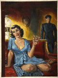 Pulp, Pulp-like, Digests, and Paperback Art, BERNARD SAFRAN (American 1924 - 1995). Confessions of a Ladies'Chauffeur, original paperback cover illustration, 1954. ...(Total: 2 Items)