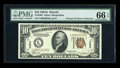 Small Size:World War II Emergency Notes, Fr. 2303 $10 1934A Hawaii Federal Reserve Note. PMG GemUncirculated 66 EPQ.. ...