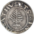 1652 SHILNG Pine Tree Shilling, Large Planchet--Holed, Scratched--NCS. XF Details....(PCGS# 23)