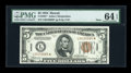 Small Size:World War II Emergency Notes, Fr. 2301* $5 1934 Mule Hawaii Federal Reserve Note. PMG ChoiceUncirculated 64 EPQ.. ...