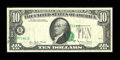 Error Notes:Shifted Third Printing, Fr. 2024-B $10 1977A Federal Reserve Note. Very Fine-Extremely Fine.. ...