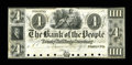 Canadian Currency: , Toronto, UC- The Bank of the People $4 Ch. 570-12-08P Proof. ...