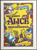 "Movie Posters:Animated, Alice in Wonderland (Buena Vista, R-1974). Pressbook (11"" X 15"").Animated...."