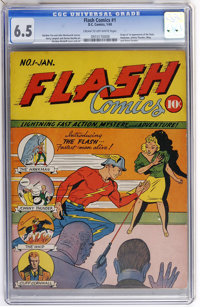 Flash Comics #1 (DC, 1940) CGC FN+ 6.5 Cream to off-white pages