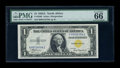 Small Size:World War II Emergency Notes, Fr. 2306 $1 1935A North Africa Silver Certificate. PMG Gem Uncirculated 66 EPQ.. ...