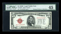 Small Size:Legal Tender Notes, Fr. 1529* $5 1928D Legal Tender Note. PMG Choice Extremely Fine 45.. ...