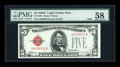 Small Size:Legal Tender Notes, Fr. 1529 $5 1928D Mule Legal Tender Note. PMG Choice About Unc 58.. ...