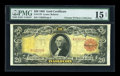 Large Size:Gold Certificates, Fr. 1179 $20 1905 Gold Certificate PMG Choice Fine 15 NET....