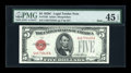 Small Size:Legal Tender Notes, Fr. 1528 $5 1928C Mule Legal Tender Note. PMG Choice Extremely Fine 45 EPQ.. ...