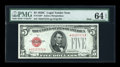 Small Size:Legal Tender Notes, Fr. 1528* $5 1928C Mule Legal Tender Note. PMG Choice Uncirculated 64 EPQ.. ...