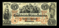 Confederate Notes:1861 Issues, T31 $5 1861 PF-1, Cr-243.. ...