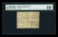 Colonial Notes:Georgia, Georgia 1776 $1/4 PMG Very Good 10 Net....