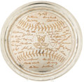 Baseball Collectibles:Others, 1953 New York Yankees World Championship Presentational Platterfrom Rizzuto Estate. Direct from the Scooter Estate, with a...