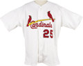 Baseball Collectibles:Uniforms, 1999 Mark McGwire Game Worn Jersey. Big Mac capped baseballhistory's greatest home run output in two consecutive seasons t...