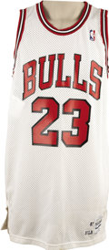 Basketball Collectibles:Uniforms, 1987-88 Michael Jordan Game Worn Jersey. The 1987-1988 season was adefining one for Michael Jordan. His first three years i...