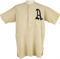 "Baseball Collectibles:Uniforms, Circa 1911 Tully Frederick ""Topsy"" Hartsel Game Worn Jersey. One of just a tiny handful of jerseys dating to Connie Mack's ..."